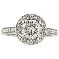 Certified Round Brilliant Cut Diamond Engagement Ring 1.07 Carat