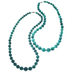 Malachite Pair of Necklace