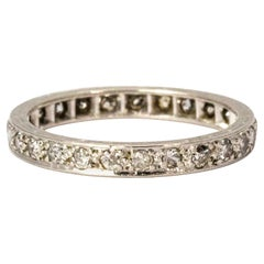 18 Karat White Gold Diamond Eternity Ring