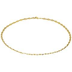 Edwardian 18 Karat Yellow Gold Necklace