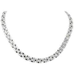 Cartier 18 Karat White Gold Panthère Necklace