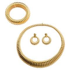 Van Cleef & Arpels Tubogas Necklace Bracelet Earring Set