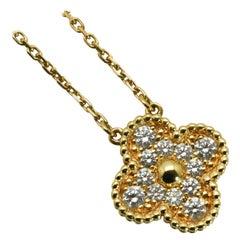 Alhambra Diamond Pendant Necklace