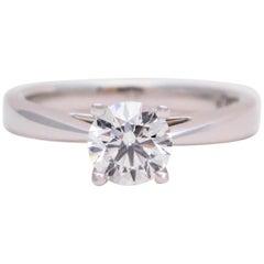 Regal Elegance 1.06 Carat Round Brilliant Diamond Solitaire Platinum Engagement