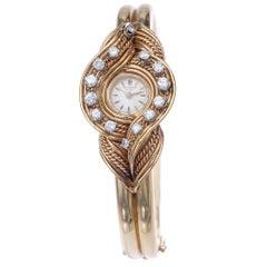 Universal Geneve Swiss Wristwatch Retro Diamond Gold