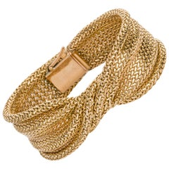 Mellerio 18 Karat Yellow Gold Woven Twist Bracelet