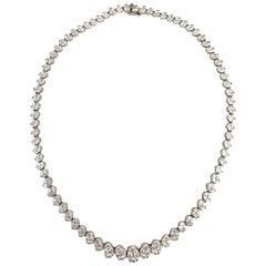 14.14 Carat Diamond Necklace in 18 Karat White Gold