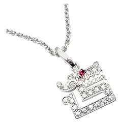 Cartier Le Baiser Du Dragon Diamond Ruby White Gold Pendant Necklace