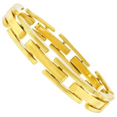 Contemporary Style Gold Bracelet