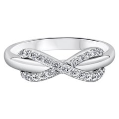 Tiffany & Co. White Gold Diamond Infinity Ring