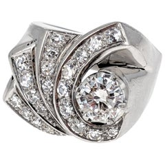 1940s Platinum and Diamond Ring
