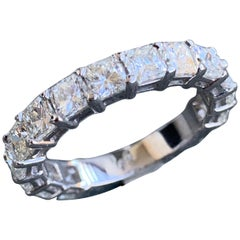 2.25 Carat Approximate Radiant Diamond Eternity Ring or Wedding Band, Ben Dannie