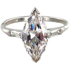 Marquise Diamond 18 Karat White Gold Engagement Ring