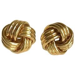 Tiffany & Co. Gold Love Knot Clip Earrings