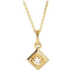 Diamond Pendant Necklace Square