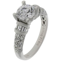 Platinum Diamond Ring Containing 1.68 Carat of Diamonds