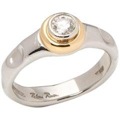 Tiffany & Co. Platinum & 18 Karat Yellow Gold 0.45ct Diamond Paloma Picasso Ring