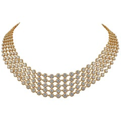 Van Cleef & Arpels Five-Row Diamond Link Necklace