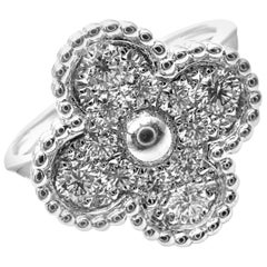 Van Cleef & Arpels Diamond Vintage Alhambra White Gold Ring