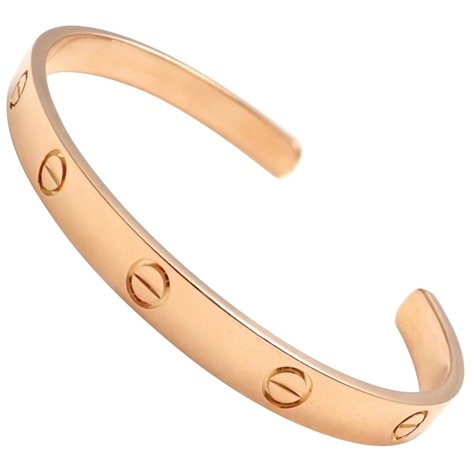 43623cd9d822 Cartier Love Rose Gold Open Cuff Bangle Bracelet at 1stdibs