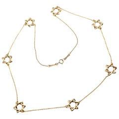 Tiffany & Co. Elsa Peretti Star of David Yellow Gold Necklace
