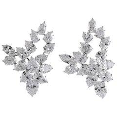 1970s Harry Winston Diamond Cluster Earrings