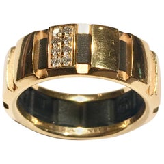 Chaumet Diamonds and 18 Karat Yellow Gold Class One Band Ring