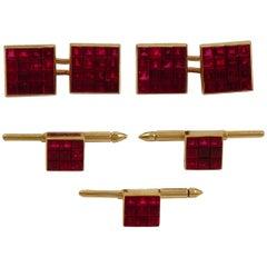 Van Cleef & Arpels Mystery Set Ruby Cufflinks