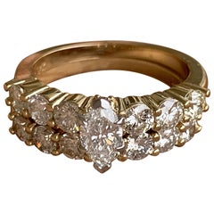 1.1 Carat Approximate Marquise Diamond Ring and Wedding Band, Ben Dannie