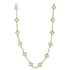 Van Cleef & Arpels 24 Station White Coral Alhambra Necklace