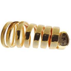 Diamond 18 Karat Rose Gold Serpenti Bracelet Watch by Bulgari
