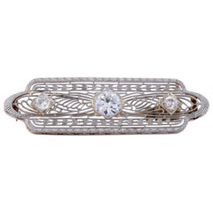 Art Deco Antique Diamond Brooch