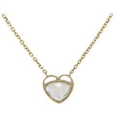 2.23 Carat GIA Diamond Heart Shaped Bezel Necklace
