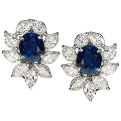 18 Karat Natural Sapphire Earrings