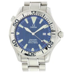 Omega Seamaster 2265.80.00 with Band and Blue Dial Certified Pre-Owned