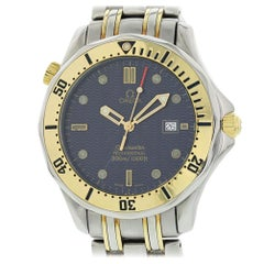 Omega Seamaster 2342.80.00 with Band and Blue Dial Certified Pre-Owned