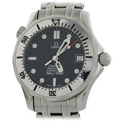 Omega Seamaster 2562.80.00 with Band and Blue Dial Certified Pre-Owned