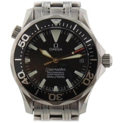 Omega Seamaster 2252.50.00 with Band and Black Dial Certified Pre-Owned