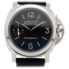 Panerai Luminor PAM00111 with Band and Black Dial Certified Pre-Owned