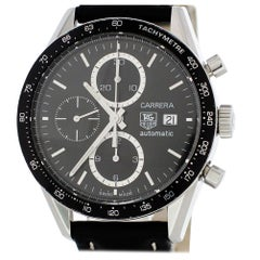 TAG Heuer Carrera CV2010-3 with Band and Black Dial Certified Pre-Owned