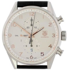 TAG Heuer Carrera CAR2012 Band and Silver Dial Certified Pre-Owned
