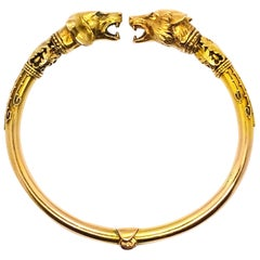 Two Hounds Victorian Gold Bangle