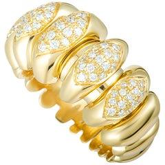 Bulgari Celtaura Diamond Yellow Gold Band Ring