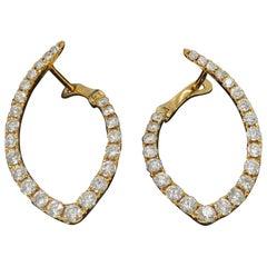 18 Karat Rose Gold Inside Out Diamond Earrings
