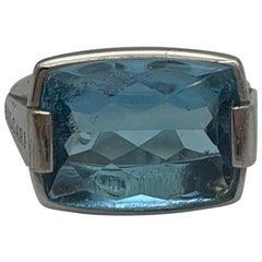 Bulgari Ring White Gold with Aquamarine