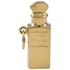 Gold Chanel #5 Perfume Bottle Charm