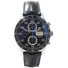 TAG Heuer Carrera CV2A16 with Stainless-Steel Bezel and Black Dial