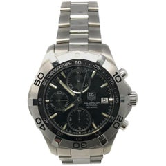 TAG Heuer Aquaracer CAF2110 with Stainless-Steel Bezel and Black Dial