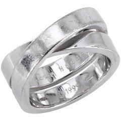Cartier Nouvelle Vague Paris 18 Karat White Gold Ring