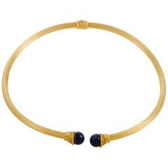 Ilias Lalaounis 2-Lapis Yellow Gold Omega Necklace